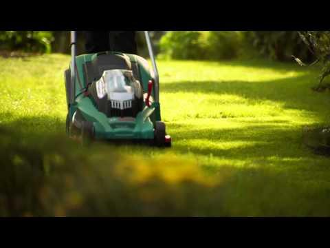 Bosch Gartengeräte Akku Rasenmäher Rotak 34 37 43 LI Ergoflex
