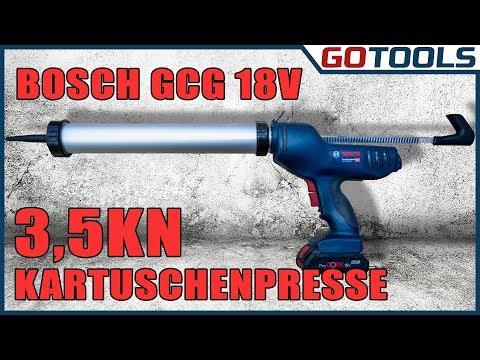 kurz vorgestellt: Bosch Akku Kartuschenpresse GCG18V 600