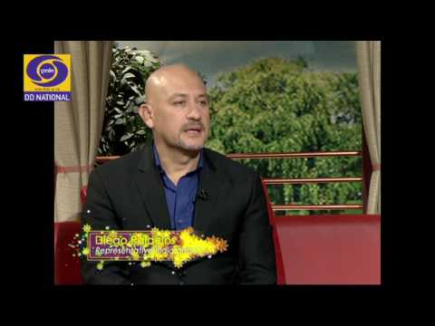 Diego Palacios discusses Indian Population on Aaj Savere, DD National on World Population Day (1/2)