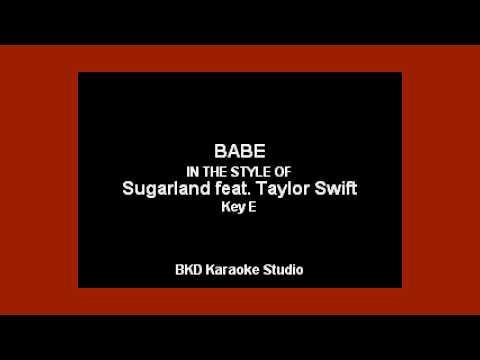 Sugarland - Babe ft. Taylor Swift  (Karaoke with Lyrics)