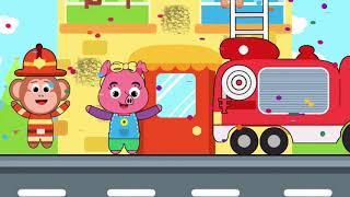 Police Car, Fire Truck, Ambulance   Game For Kids