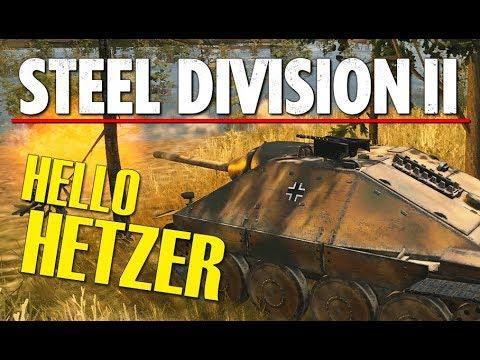 HELLO HETZER! Steel Division 2 Beta Breakthrough Gameplay (Slutsk, 4v4)