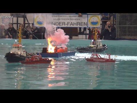 RC Fire Boats Explosion SAR Ships Löschübung Feuerwehr ♦ Faszination Modellbau Friedrichshafen