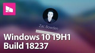Windows 10 Build 18237 - Login Screen, Snip & Sketch, Sticky Notes