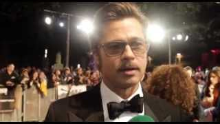 Brad Pitt On Getting Punched In The Face By Shia LaBeouf! | Two Tube