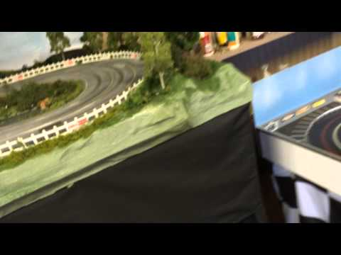 SCX Digital Nascar Slot Car Track 1/32 Build – Pond water, Trees and track update