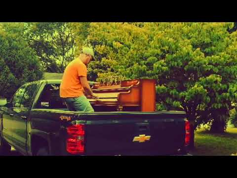Had to play some Billy Joel in the bed of my truck before we hauled the upright in the house :)