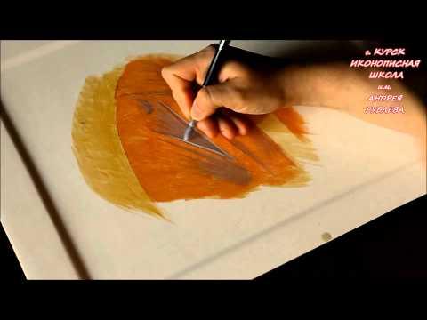 Рисование кистями Roubloff в Иконописной школе имени Андрея Рублева Курск