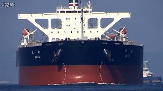 [巨大船] SAIKO 彩虹 Bulk Carrier バラ積み船 NYK 日本郵船 関門海峡 2015-AUG