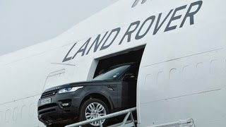 Driving the new Range Rover Sport through a Boeing 747
