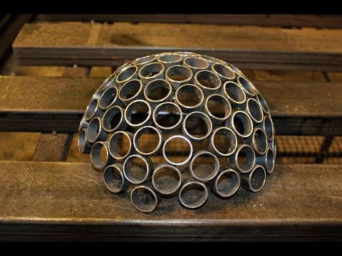 Halbkugel aus Metall bauen, Wandkugel, Dekokugel für die Wand,