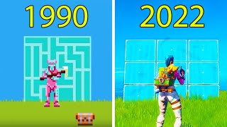 Evolution of Fortnite Battle Royale 1990-2021