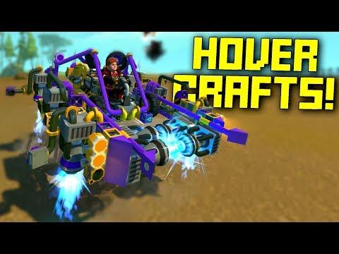 "Hovercrafts That Make Us Say ""WUT?"" - Scrap Mechanic Workshop Hunters"
