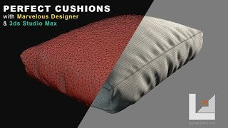 Model Perfect Wrinkled Cushions & Furniture With Marvelous Designer and 3ds Max