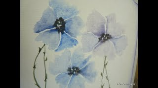 Watercolor Flower Cards - Inspired by CeeCee's Creations