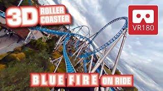 Roller Coaster VR 180 3D Experience - Blue Fire VR180 POV @ Europa Park Achterbahn Montaña Rusa