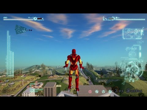 GTA San Andreas Iron man mod controls - смотреть онлайн на