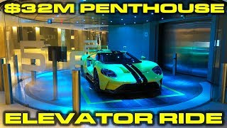$32M Elevator ride with the new 2018 Ford GT at the Porsche Design Tower