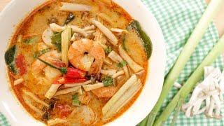 Tom Yum Goong Recipe (Creamy Style!) ต้มยำกุ้งนำ้ข้น   Thai Recipes