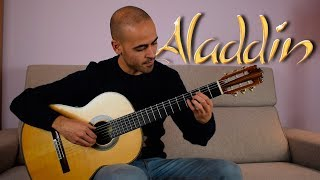 """Video thumbnail of """"A whole new world - Soundtrack Aladdin - Fingerstyle Guitar Cover + TAB"""""""