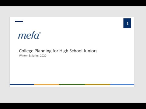 College Planning for Families With High School Juniors