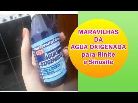 sinusite tratamento caseiro agua oxigenada