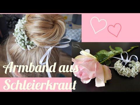 Armband/ Haarband aus Schleierkraut selber machen/ DIY/ Hochzeit /Blumenmeer /Wedding /Schmuck