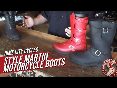 Style Martin Motorcycle Boots