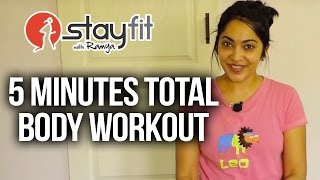 5 minutes Total Body Workout | Stay Fit with Ramya by Stay Fit with Ramya