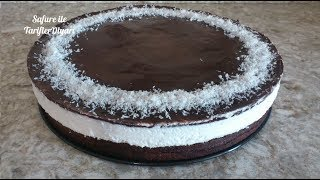 Hindistan Cevizli Pasta Tarifi - Cocostar Pasta - Çikolatalı Kokostar Pastası