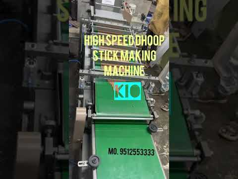 Kio Fully Automatic Highspeed Dhoop Stick Making Machine