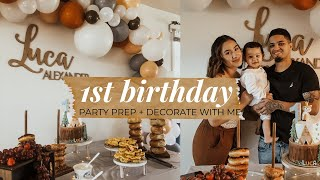 Baby's First Birthday Party Prep with Me | DIY Balloon Garland, Decor, Food and More!