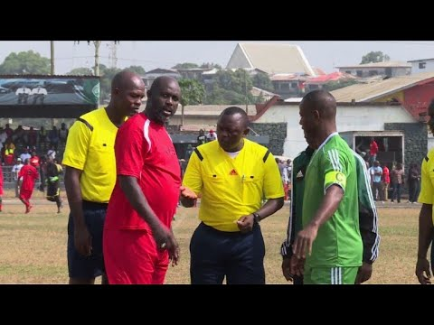 Liberia's president-elect plays football friendly