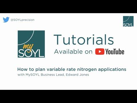 SOYL - MySOYL: Creating variable rate nitrogen