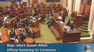 Swearing-in Ceremony for Rep. Susan Allen
