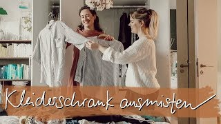 WIR MISTEN LENAS KLEIDERSCHRANK AUS | Wardrobe Declutter