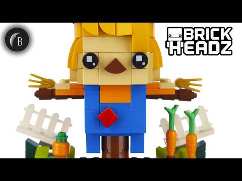 Vidéo LEGO BrickHeadz 40352 : L'épouvantail de Thanksgiving