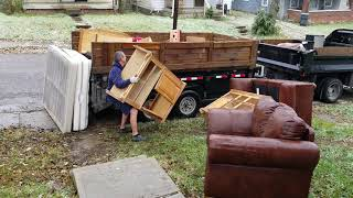 Video! Big Furniture Removal and Junk Removal