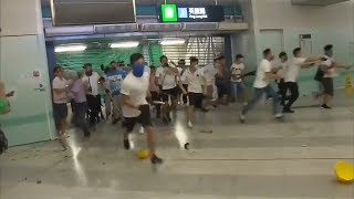 video: Anger in Hong Kong over 'triad attack' on anti-government protesters