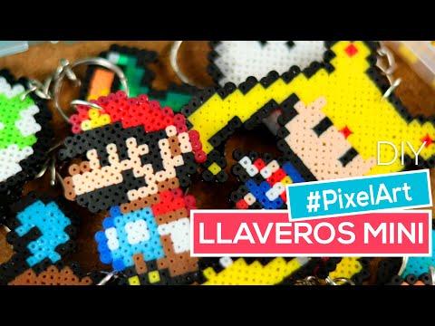 Cómo hacer llaveros con Beads Mini | Hama, Perler, Artkal | #PixelArt