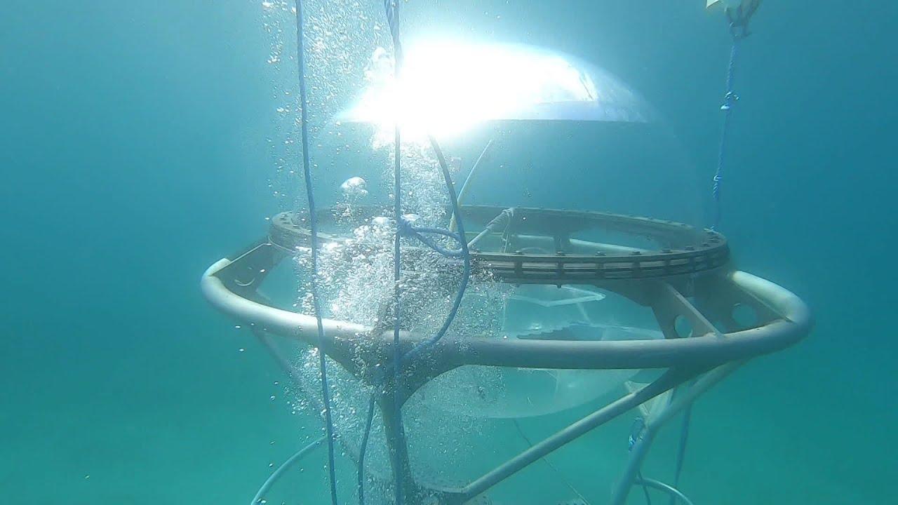 L'Aquabulle est à Marseille : cet habitat sous-marin éphémère a été réinstallé