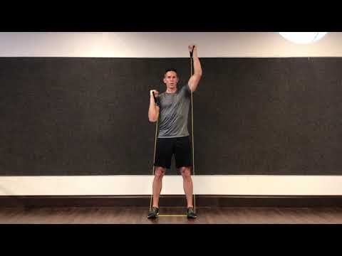 Resistance Band Alternating Shoulder Press