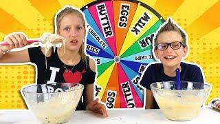 MYSTERY WHEEL OF CAKE CHALLENGE!!! - Video Youtube