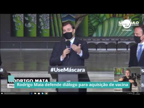 Rodrigo Maia defende diálogo para aquisição de vacina contra Covid - 23/10/20