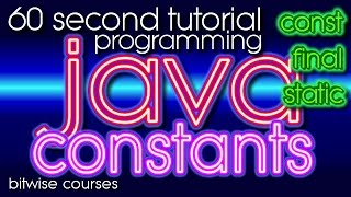 Constants in Java -- how to declare a constant: const or final?