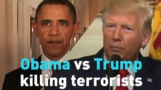 Check out Obama and Trump talk about killing the most wanted men alive