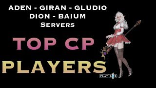 TOP CP PLAYERS before Magnadin Server - L2R