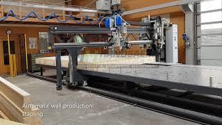 Automatische prefab constructie van wanden met de Handsaeme BOS-FRAM