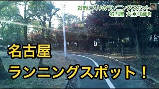 名古屋のランニング穴場スポット「大江川緑地」ガチ走りに