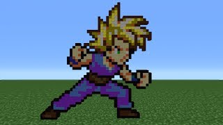 Minecraft Pixel Art Kid Gohan Tutorial Minecraftvideostv